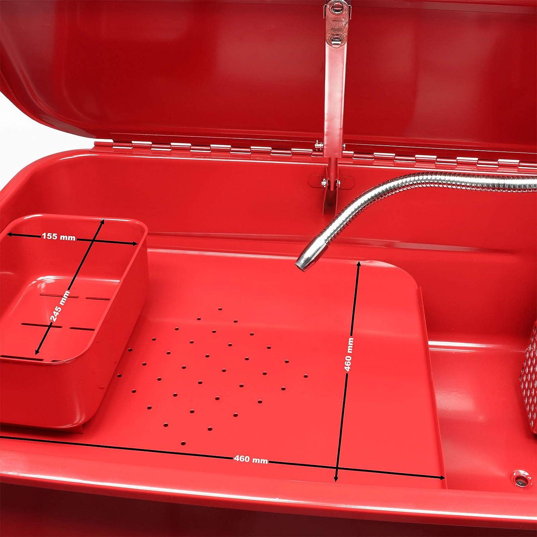 Lavapezzi da officina Vasca di lavaggio sgrassaggio pulizia pezzi con rotelle 75,7 L