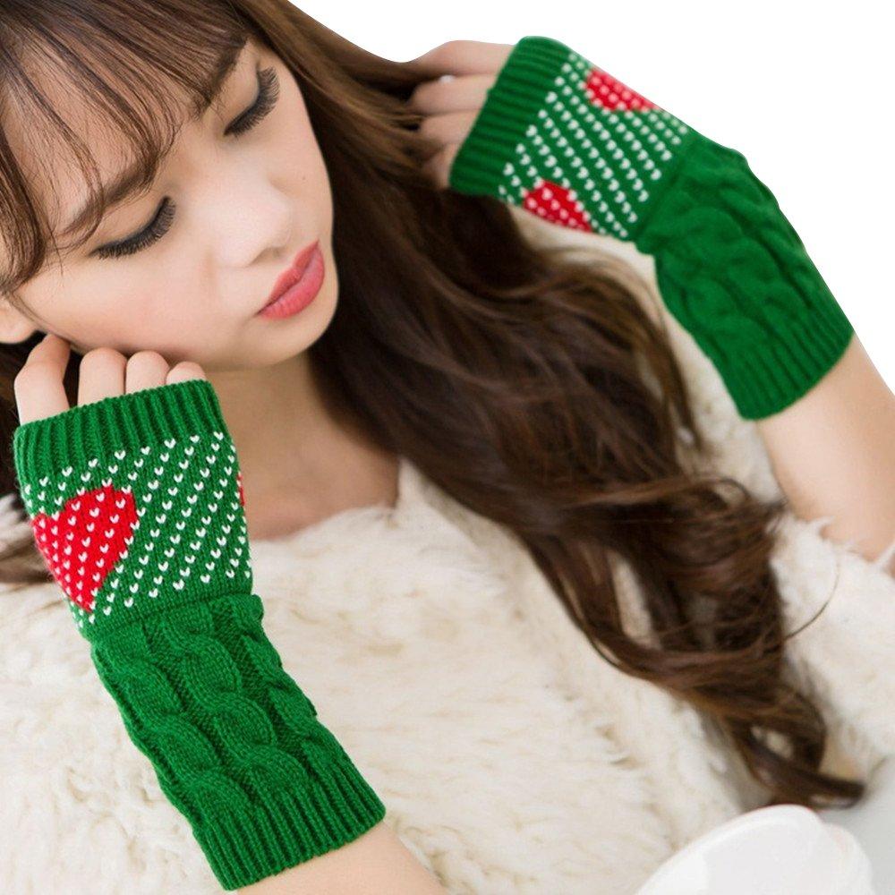 Wolle Stricken Lucy Bezieht Sich Auf Liebe Weihnachtshandschuhe