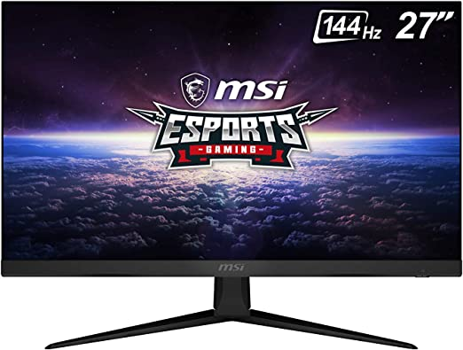 "MSI 27"" FHD (1920 x 1080) Non-Glare with Super Narrow Bezel 144Hz 1ms 16:9 HDMI/DP AMD Radeon FreeSync IPS Gaming Monitor (OPTIX G271), Black"
