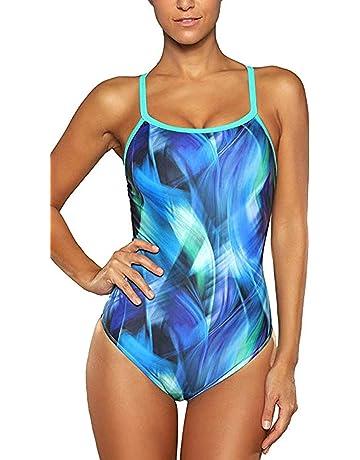 e772d8e66 ATTRACO Women's Athletic Swimsuit Training Spaghetti Strap One Piece  Swimsuit Swimwear Bathing Suit