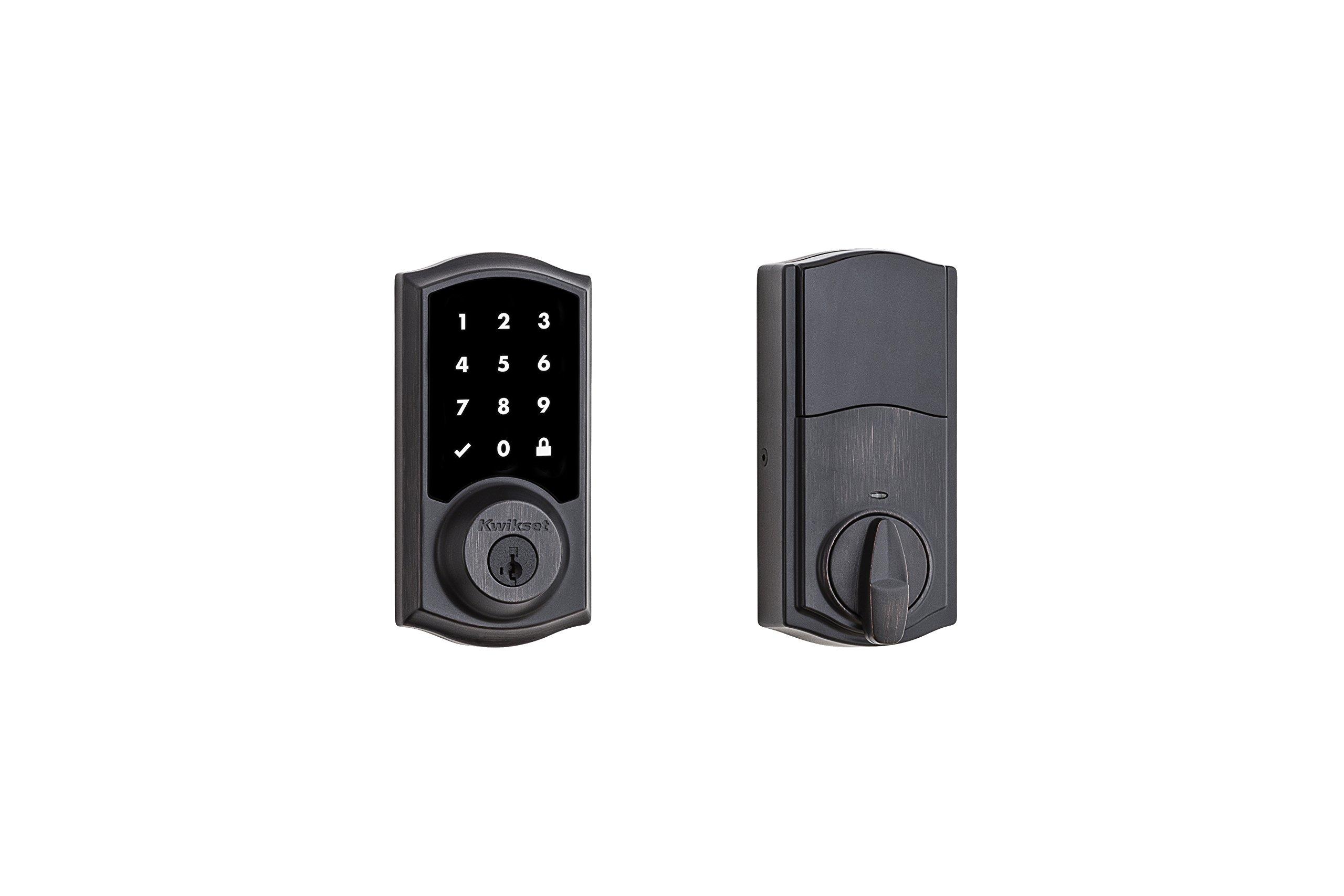 Kwikset 99160-021 SmartCode 916 Z-Wave Plus Touchscreen Deadbolt, Venetian Bronze