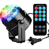 COIDEA Karaoke Machine Party Lights 3W Disco Ball Lights Dj Light LED Stage Light 7 Colors Sound Activated Strobe Light Portable Stage Lights for Festival Bar Club Party Outdoor and More(with Remote)