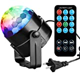 COIDEA Karaoke Machine Party Lights Disco Lights Disco Ball Lights 3W Dj Light LED Portable Stage Lights 7 Colors Sound Activated Strobe Light for Festival Bar Club Party Outdoor and More(with Remote)