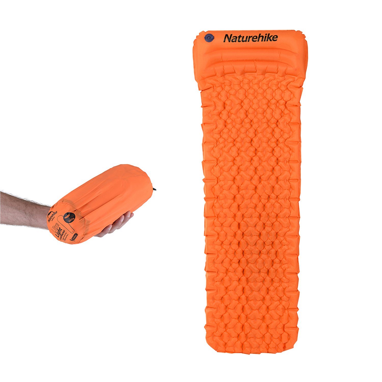 Naturehike Ultralight Sleeping-Matte mit integriertem Kissen - Orange