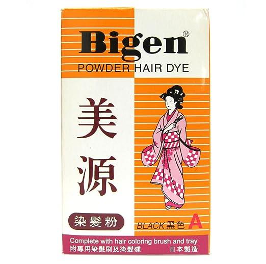 Bigen Powder Hair Dye - Black Color (A) 6g Japan