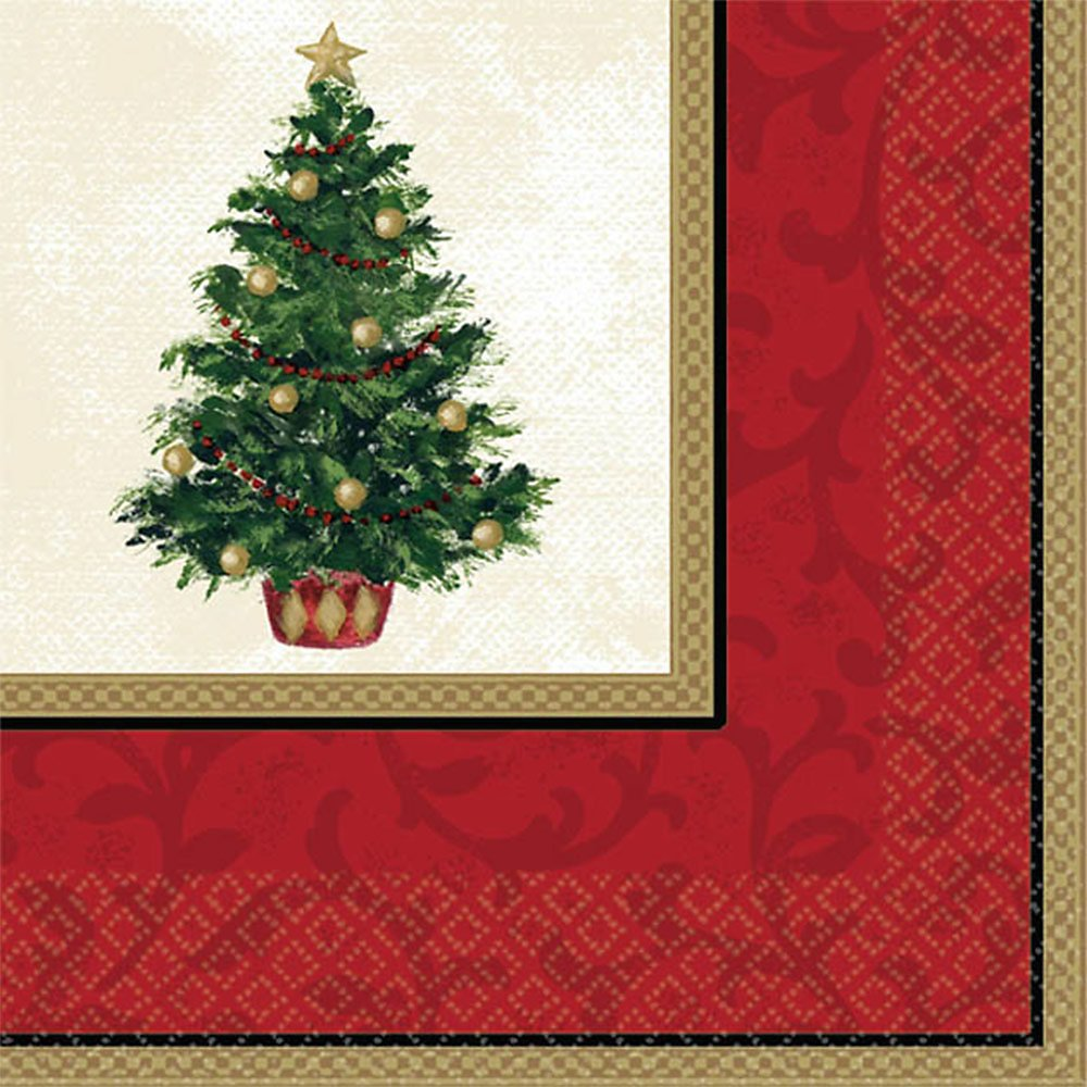 Amscan Classic Christmas Tree Luncheon Napkins, 16 Ct. Party Tableware recommend