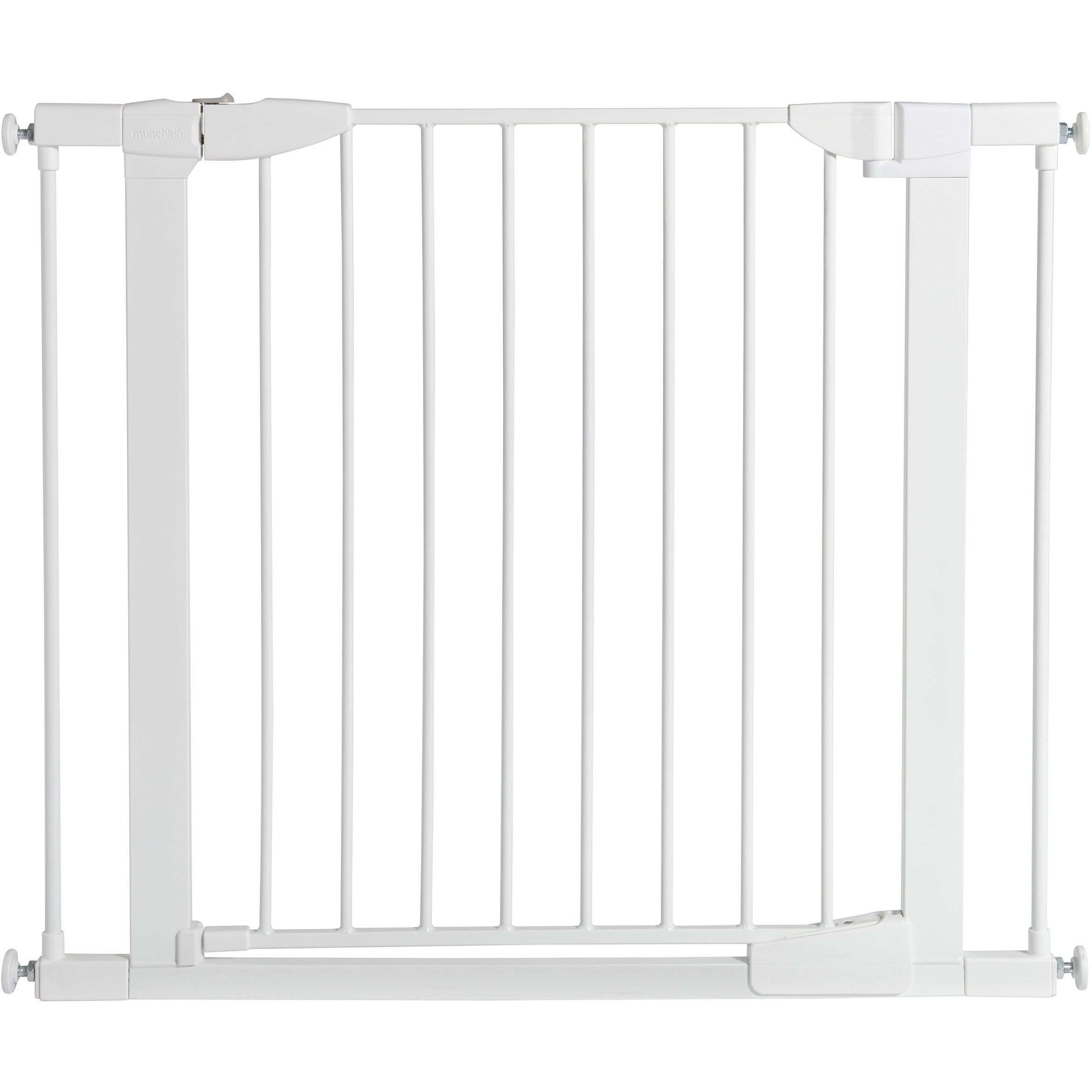 Munchkin Auto Close Pressure Mount Baby Gate for Stairs, Hallways and Doors, Metal, White, Model MK0006-022 by Munchkin