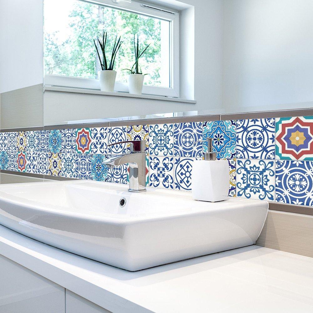 25Pcs Selbstklebendes Fliesen-Kunst-Wand-Abziehbild-Aufkleber DIY ...