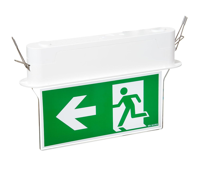 Notleuchte LED IP44 Decke Wand Notbeleuchtung Rettungszeichenleuchte Fluchtwegleuchte Notlicht Brandschutzzeichen Rettungszeichen (EXIT)