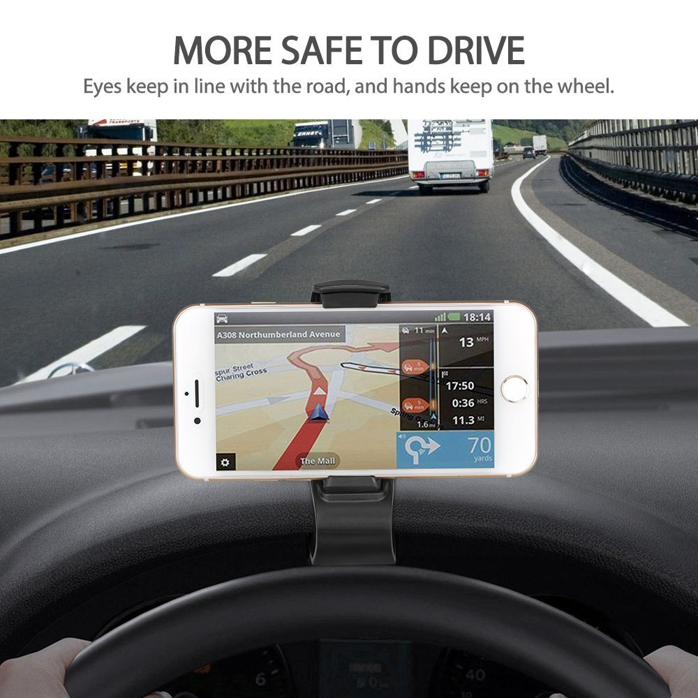 Safe Driving S8+ 8//8plus Samsung Galaxy S8 Suitable for iPhone X Note 8 and Most Smart Phones. Automobile Installation HUD Smart Phone Global Locator KEKU Adjustable Anti-Skid Support