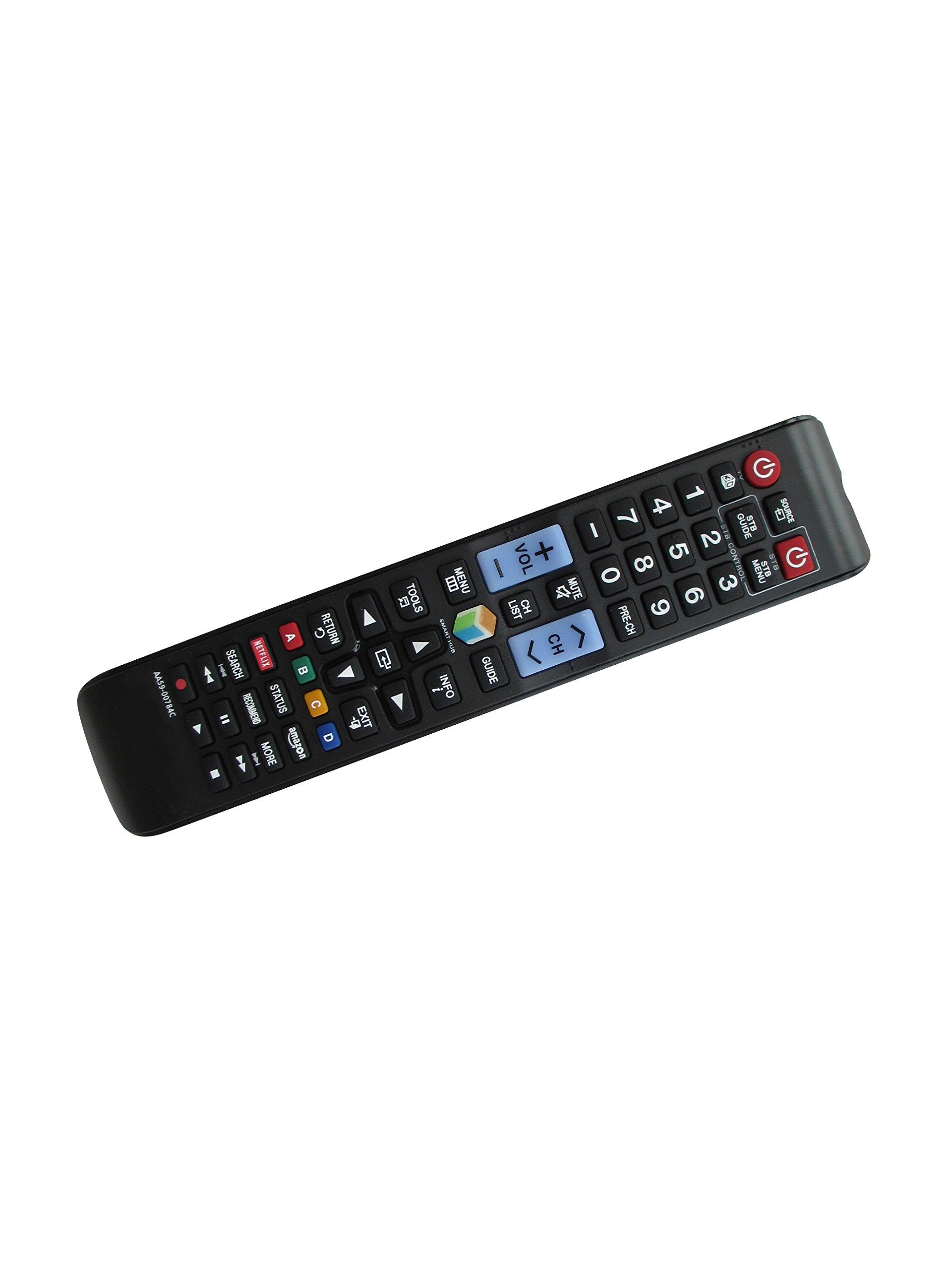 General Remote Control For Samsung UN46C7000 UN40JU650DF PN50C8000YFXZA UN55D7000 UN60D6400 UN60D8000 UN48JS9000FXZA UN65JS9000F UN48JS8500 UN65JS8500 Curved 4K SUHD Ultra HD 3D Smart LED HDTV TV