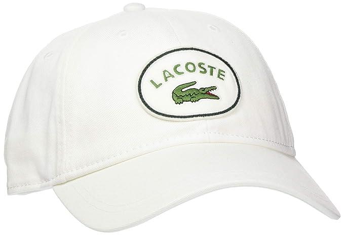 Lacoste RK1942, Casquette Souple Homme, Blanc (Flour 70v), Unique (Taille  Fabricant  TU)  Amazon.fr  Vêtements et accessoires bdd353ad118