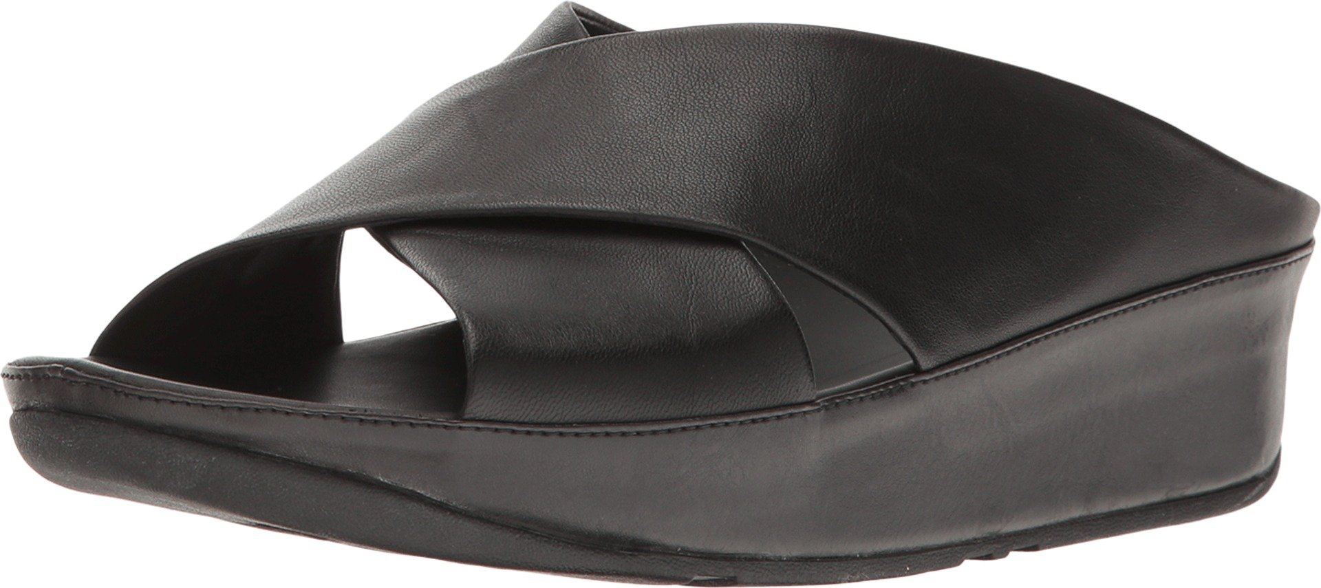 FitFlop Women's Kys Leather Slide Sandals All Black 11