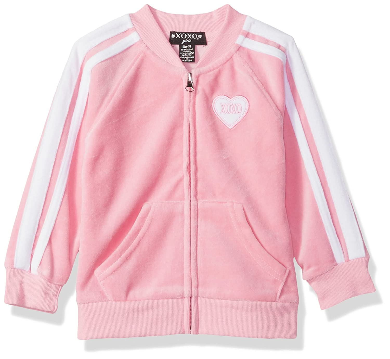 84f1fe9f7 Amazon.com  XOXO Girls  Toddler Velour Zip Front Jacket  Clothing