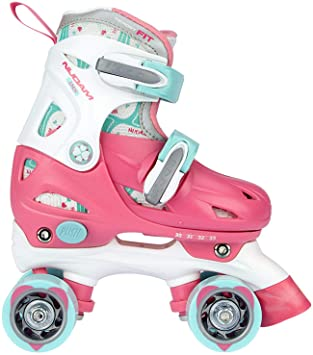 316ed538e6e Nijdam 52QNR-WB27 roller skates, pink, 27-30: Amazon.co.uk: Sports ...