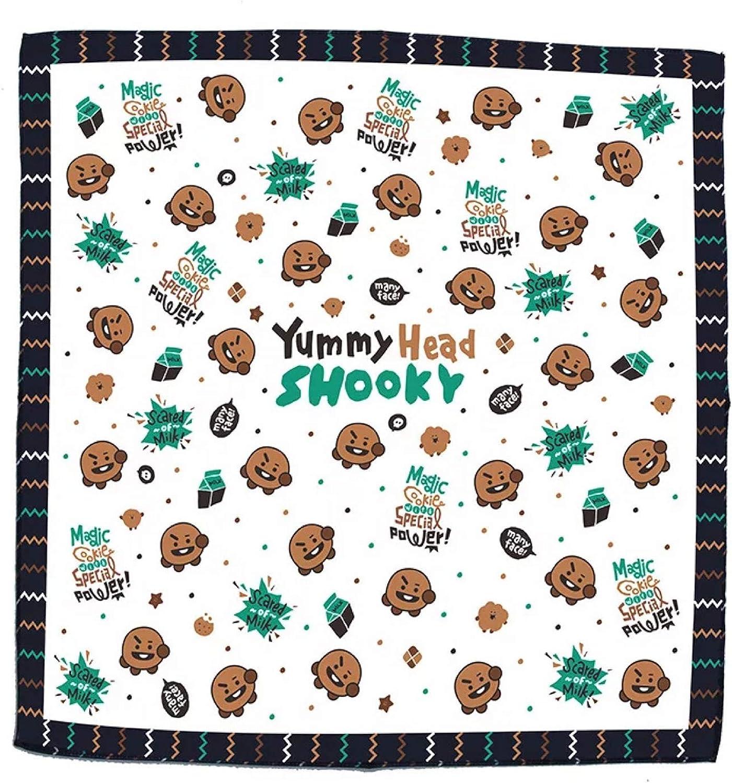 BTS scarf,Polyester Bandana Paisley Headbands Cowboy Bandana Handkerchiefs 16.5/×16.5 inch Square scarf kerchief bandana merchandise scarf Kpop Multifunction gift for girls