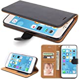 iPhone 6 Plus Case, SOWOKO [Book Style] iPhone 6S Plus Leather Wallet Case Flip Folio Shockproof Protection Cover with Credit Card Slots and Kickstand for Apple iPhone 6/6S Plus 5.5 inch (Black)