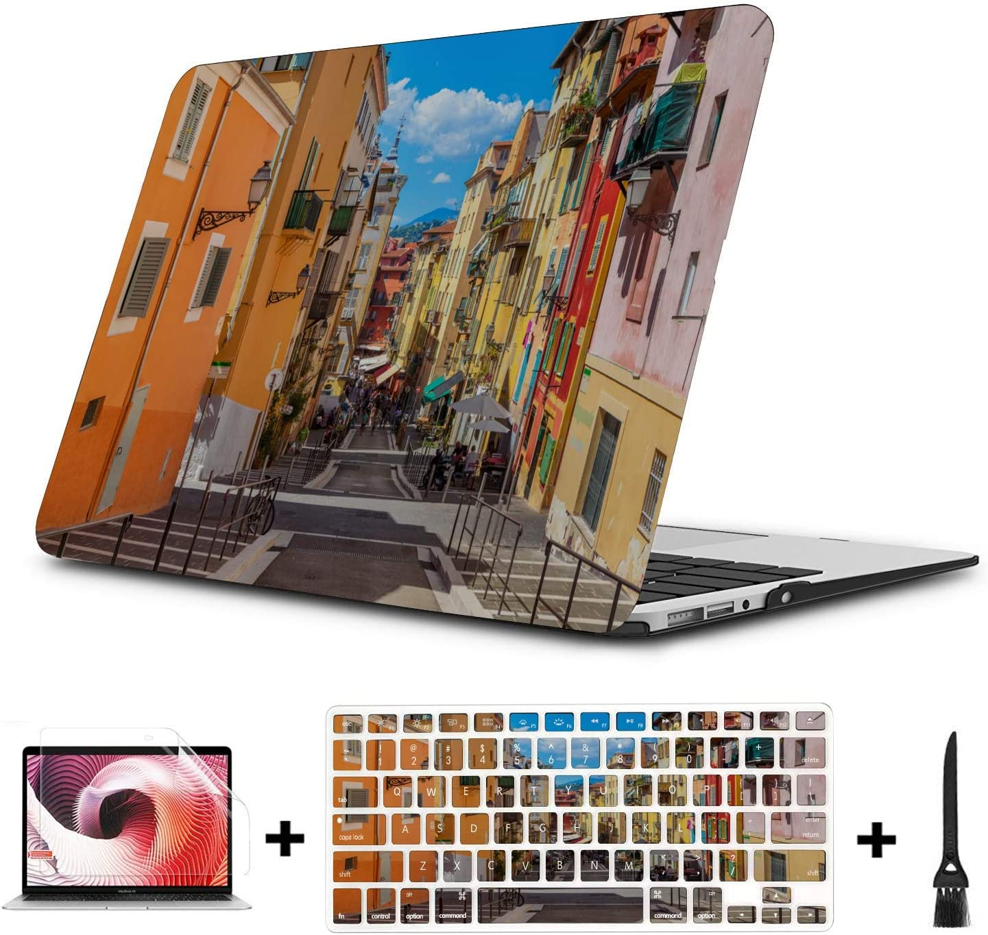 Mac Cases Scenic Freedom Travel City French Plastic Hard Shell Compatible Mac Air 11 Pro 13 15 MacBook Air Skin Protection for MacBook 2016-2019 Version