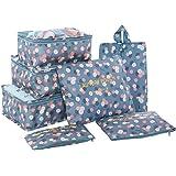 HiDay 7 Set Sistema di Cubo di Viaggio - 3 Cubi di Imballaggio + 3 Sacchetti + 1 Borsa Scarpe Premium - Perfetto di Viaggio Dei Bagagli Organizzatore