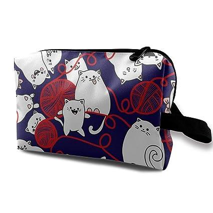 Bolsa de cosméticos para mujeres, patrones sin fisuras con gatos ...
