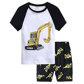 Vovotrade 2pcs Niño Niños de Niña de bebé Pijama Cómic La Impresión Tops + Shorts Ropa