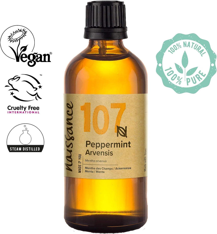 Naissance Aceite Esencial de Menta n. º 107 – 100ml - 100% puro, vegano y no OGM.