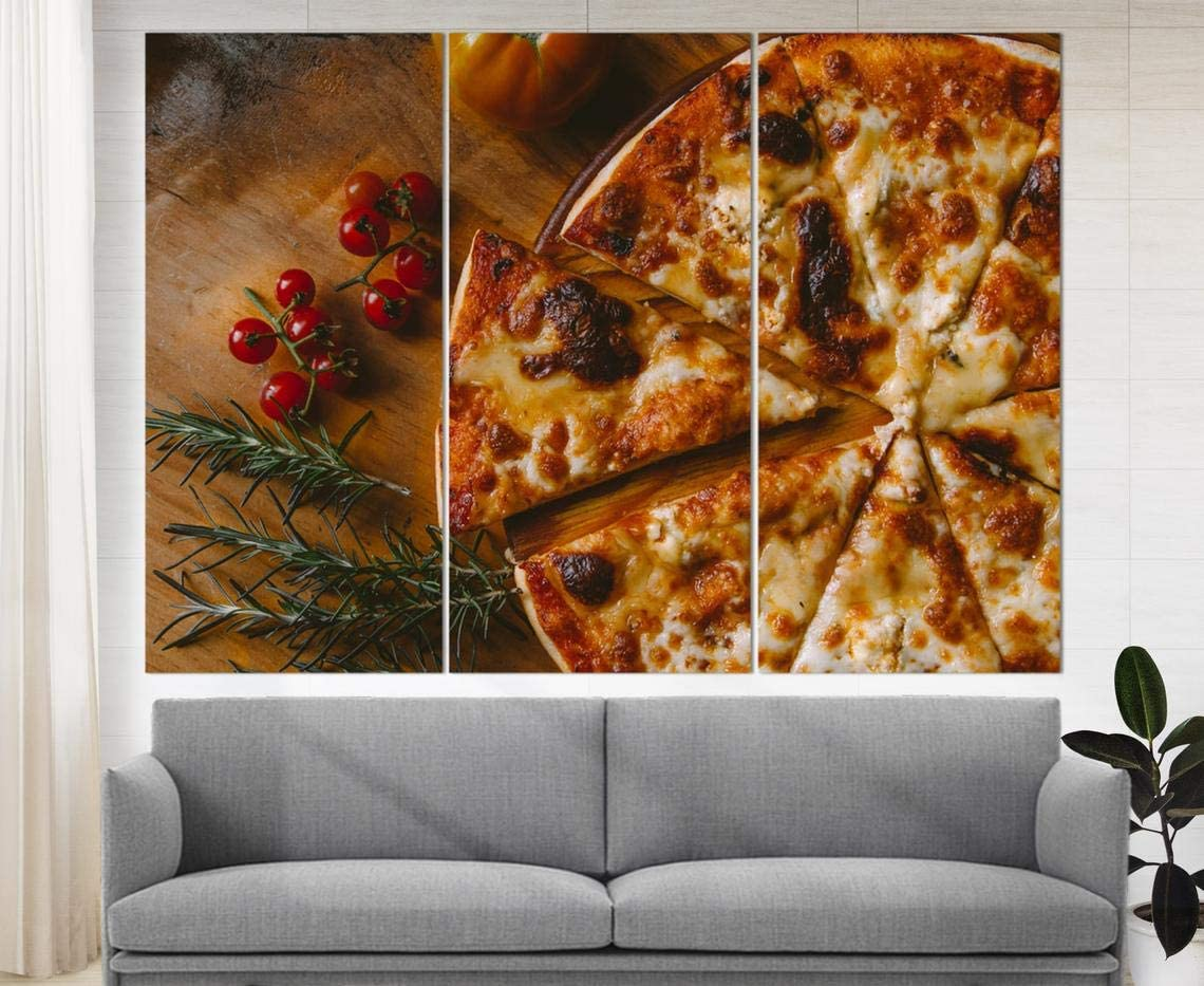 Marchak Pizza Canvas Print, Italian Food Poster, Restaurant Decor, Pizza Lover Gift, Kitchen Wall Art Food Photography, Pizzeria Wall Décor