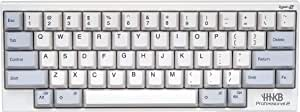 Happy Hacking Keyboard Professional Type-S (Compact, White, 45G, Printed Keycaps, Silent)