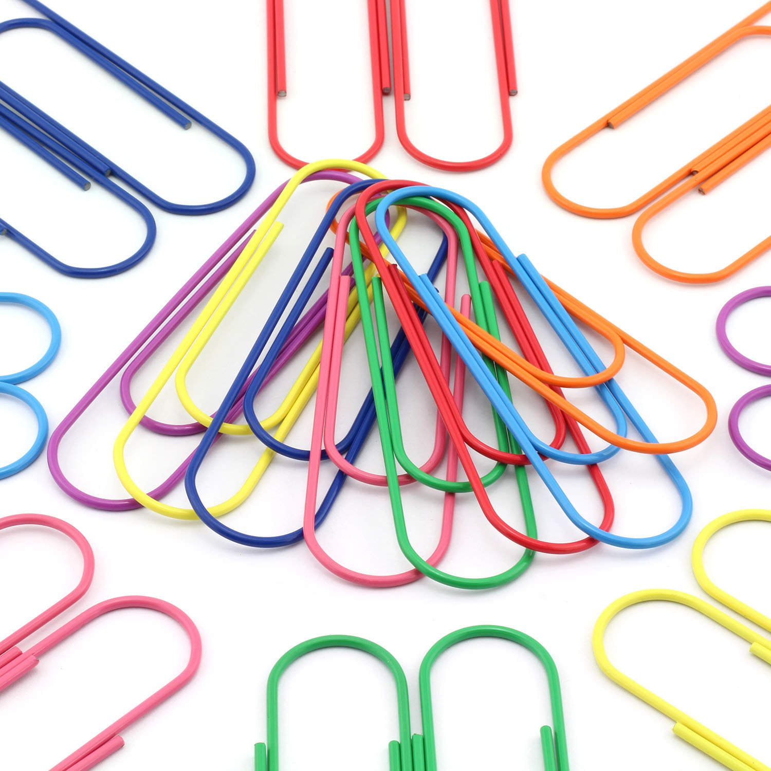 NXG 40 Pack 4 Inches Mega Large Paper Clips - 8 Colors 100mm Office Supply Accessories Cute Paper Needle Multicolor Bookmark.