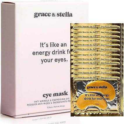 Grace & Stella Anti-Wrinkle + Energizing Gold Collagen Eye Masks