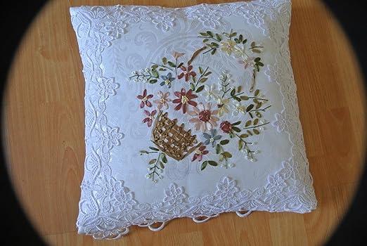Tasleffa elegante Guipure encaje con cinta bordado almohada ...