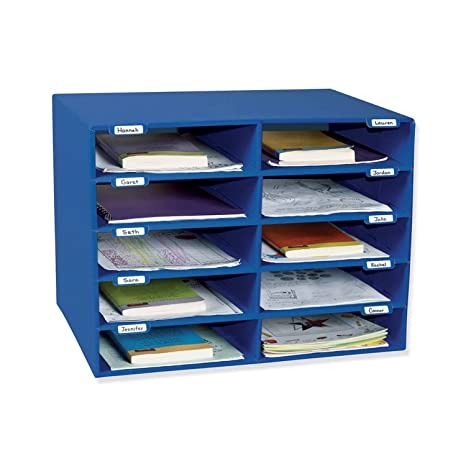 office mailbox organizer. Classroom Keepers 10 Slot Mailbox  Blue 001309 Amazon com
