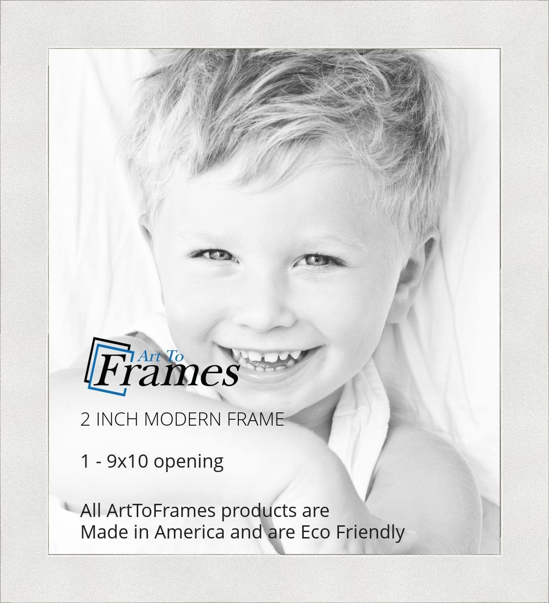 Amazon Arttoframes 9x10 Inch Modern White Frame Picture Frame
