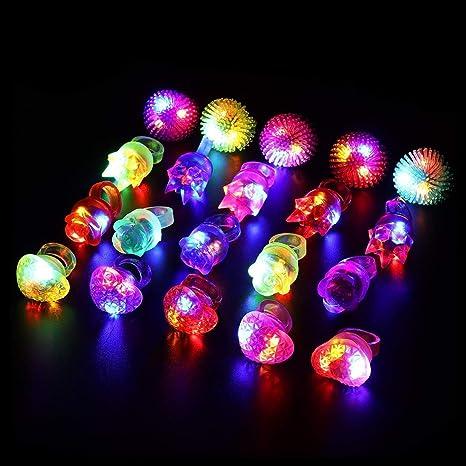 Juego de 24 piezas de juguetes con luces LED para fiesta con ...