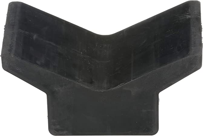 Attwood 11202-1 Boat Trailer Rubber Bow Stop V-Block, Black, 4-Inch by 4-Inch