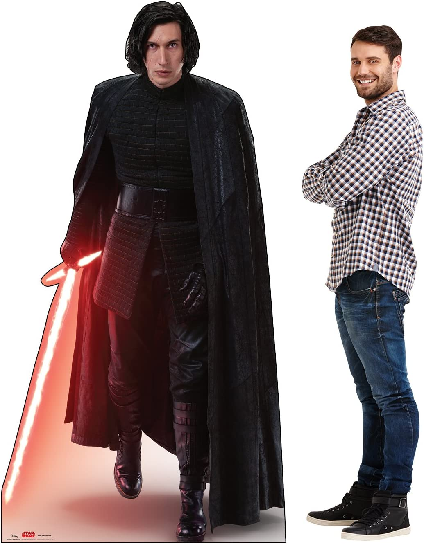 Amazon Com Advanced Graphics Kylo Ren Action Life Size Cardboard Cutout Standup Star Wars Episode Viii The Last Jedi 2017 Film Home Kitchen