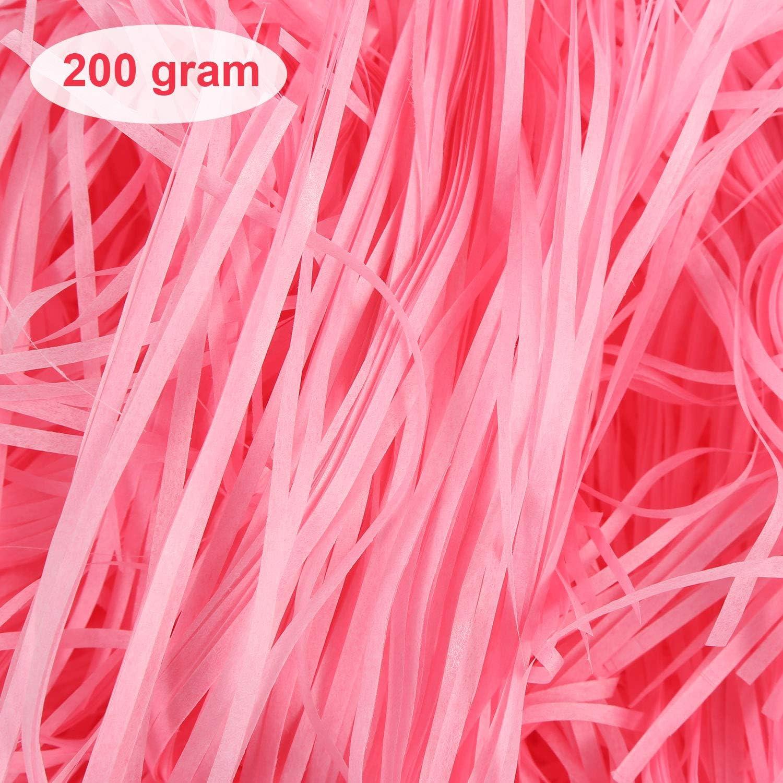 200 gramos de Bebé Rosa Cesto Shred Regalo Box packaging-tejido blando triturado