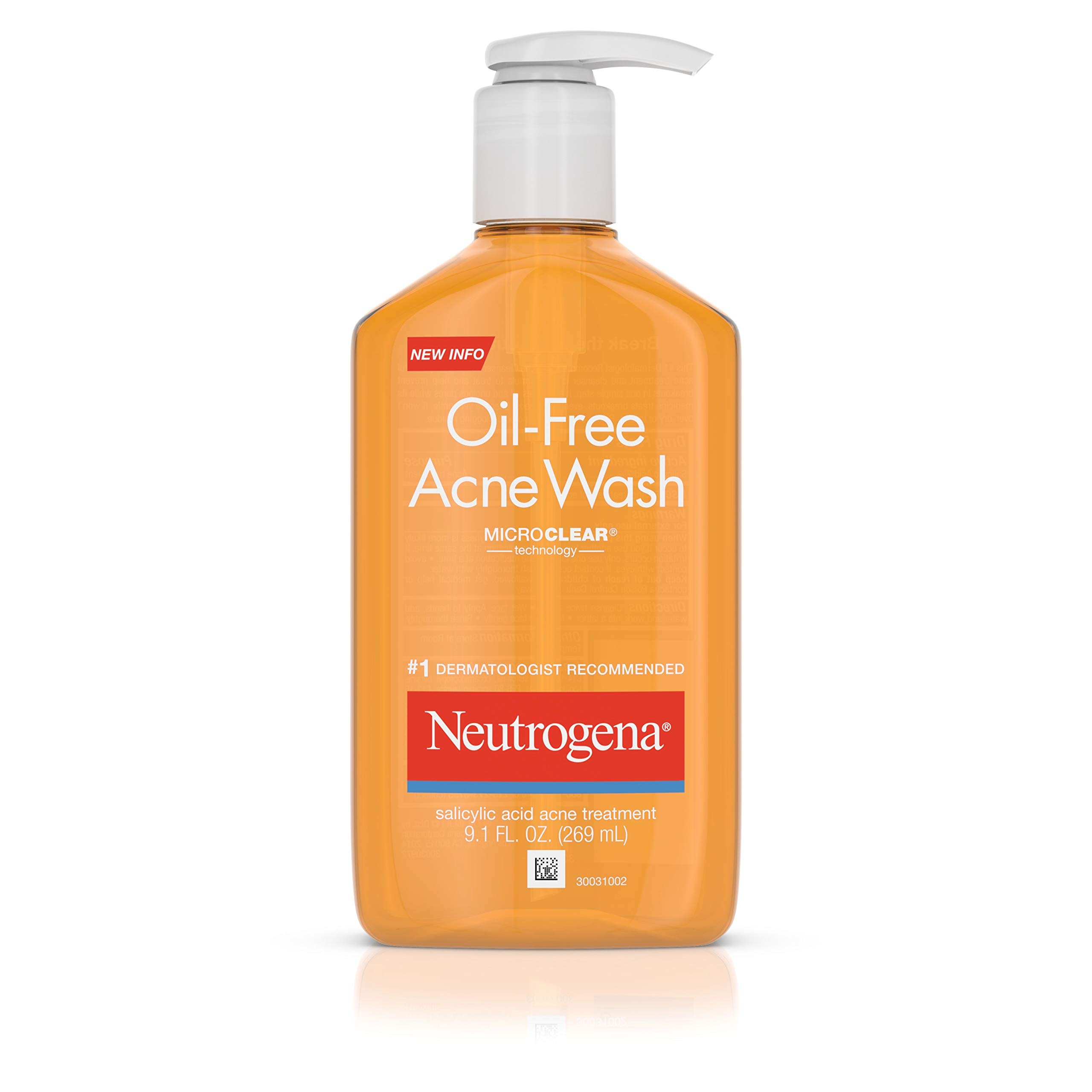 Neutrogena Oil-Free Acne Fighting Facial Cleanser with Salicylic Acid Acne Treatment medicine,, Daily Oil Free Acne Face Wash for Acne-Prone Skin with Salicylic Acid Medicine, 9.1 fl. oz (Pack of 3) by Neutrogena