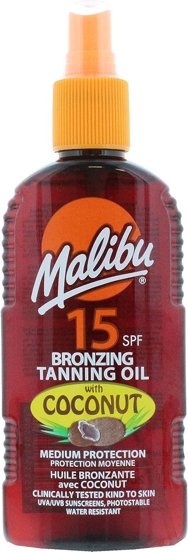 Malibu Bronzing Tanning Oil Coconut Spf15 200 ml