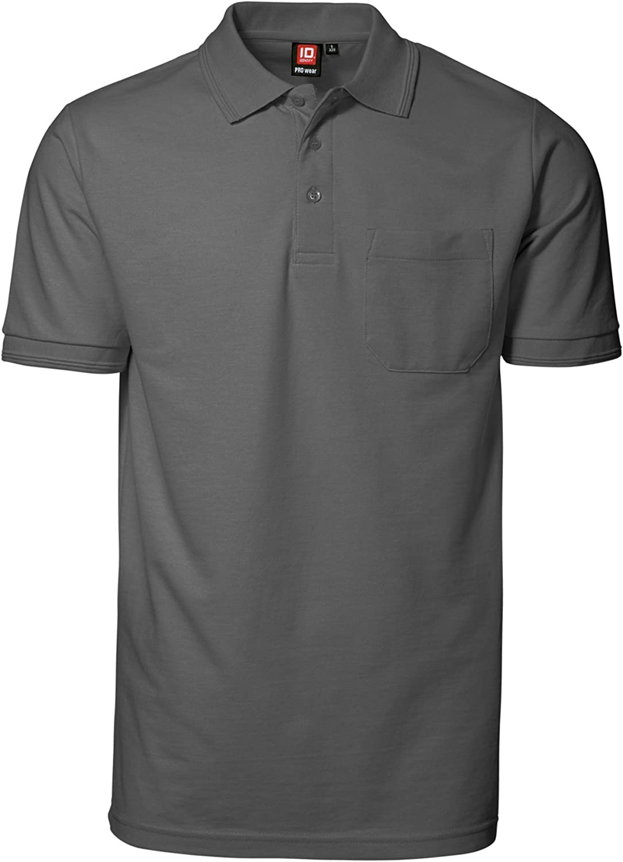 ID - Polo de manga corta con bolsillo modelo Pro Wear para hombre ...