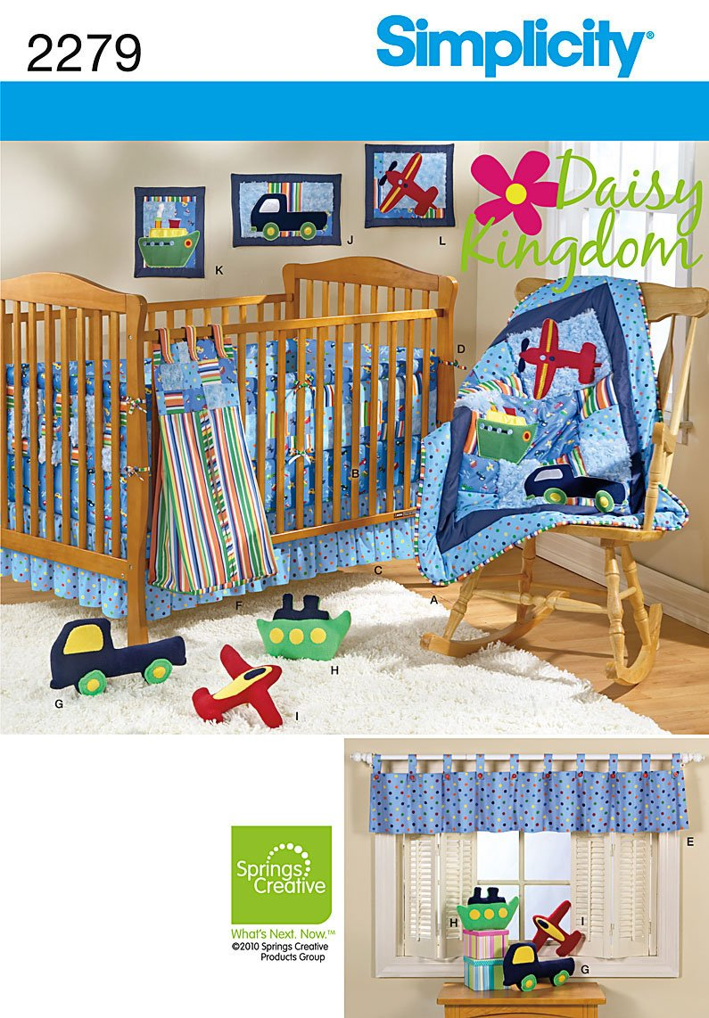 Amazon.com: Nursery Suite Complete Designed by Daisy Kingdom for Simplicity  Pattern 2279: Arts, Crafts & Sewing
