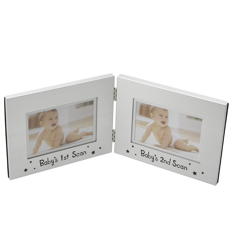 Widdop Bingham Doppel-Fotorahmen, für 2 Baby-Fotos: Amazon.de ...