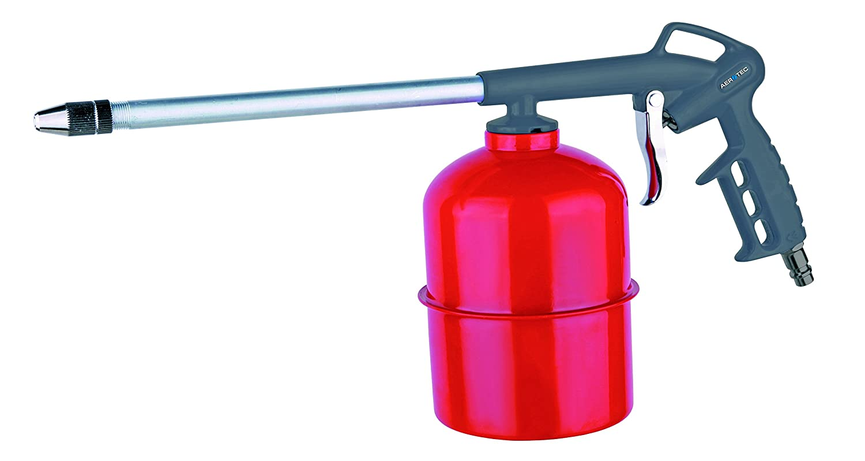 Sprü hpistole | Druckluftpistole mit Saugbecher 1,0 l fü r Kaltreiniger, Waschmittel, Sprü hö le | passend zu allen Kompressoren | SK Anschluss Aerotec 2010102