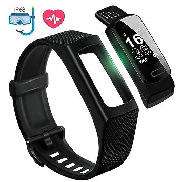 4UMOR Pulsera Actividad Monitor de Ritmo Cardíaco, Pulsera Inteligente de Deporte con Pulsómetro para Fitness Tracker, Monitor de Sueño, ...