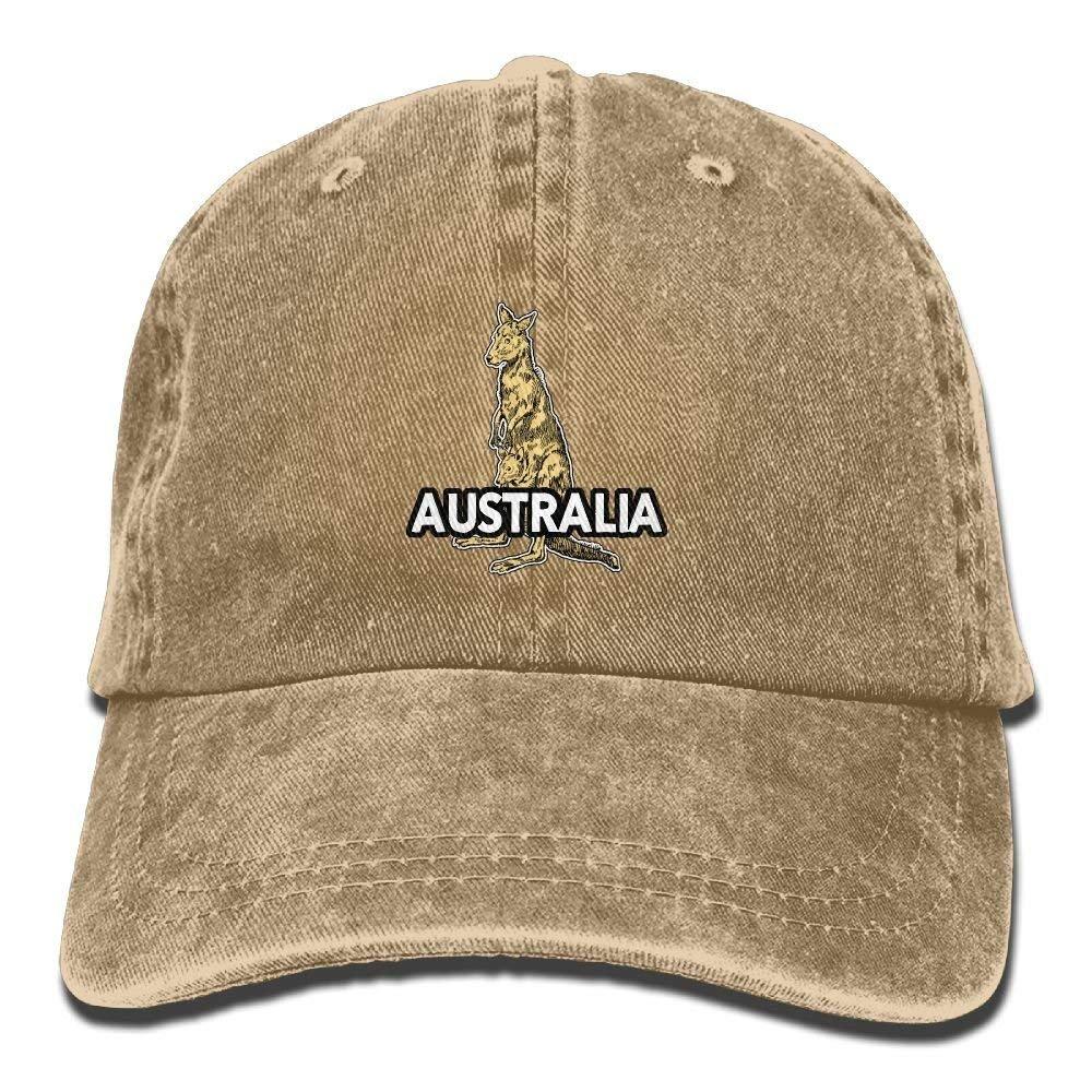 JTRVW Stone Australian Kangaroo Adjustable Adult Cowboy Hat Baseball Cap for Men and Women