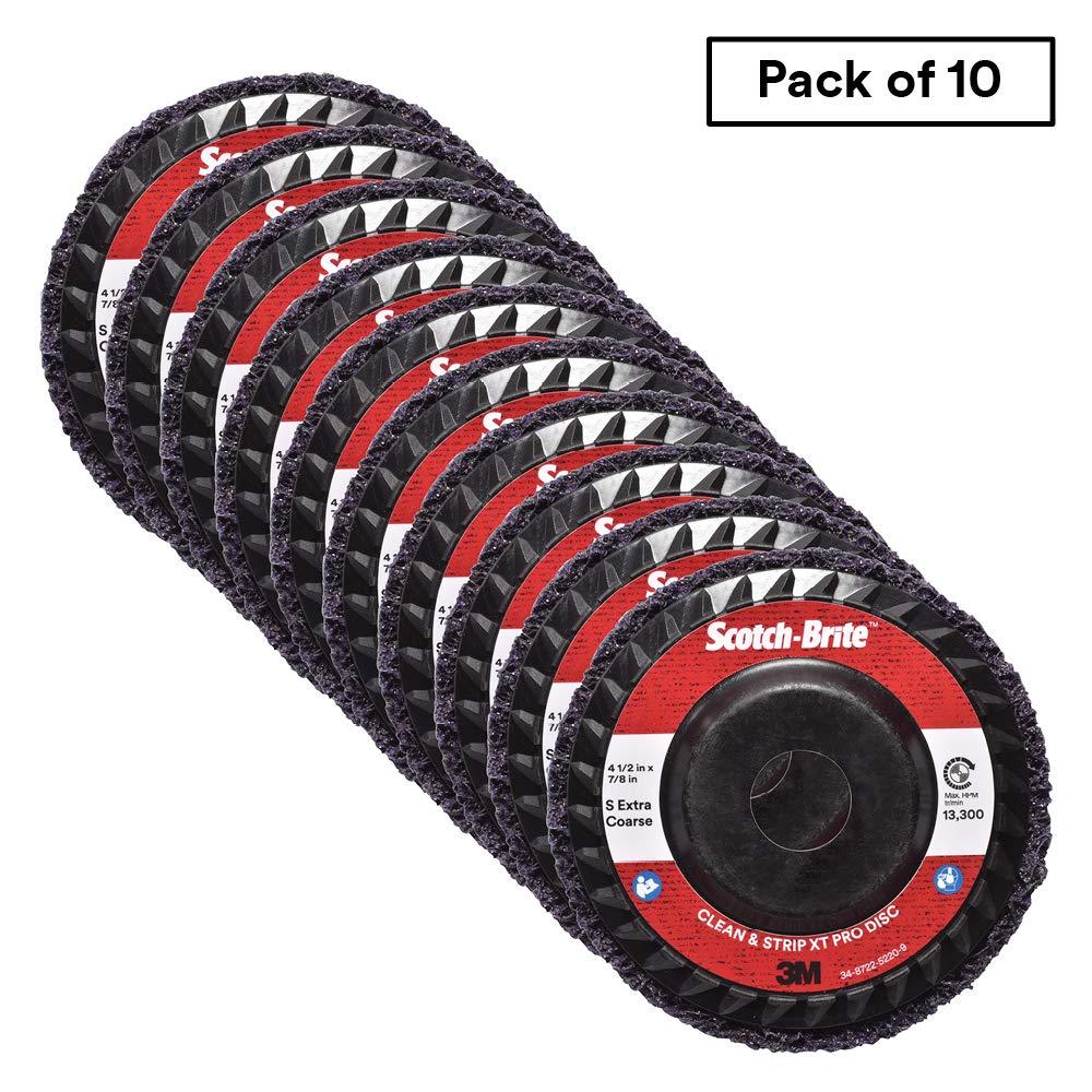 Scotch-Brite Clean and Strip XT Pro Disc, T27, 4-1/2 in x 7/8 in, S XCS, 10 per case by Scotch-Brite