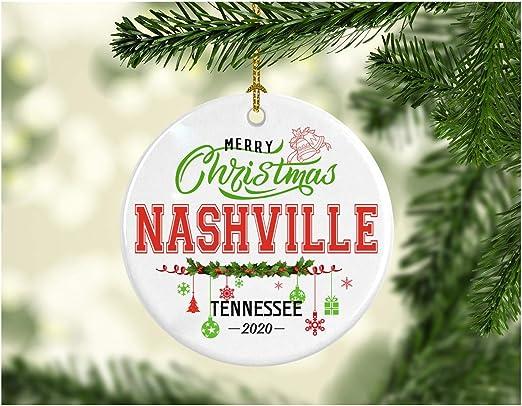 White Christmas Nashville 2020 Amazon.com: Christmas Decorations Tree Ornament   Gifts Hometown