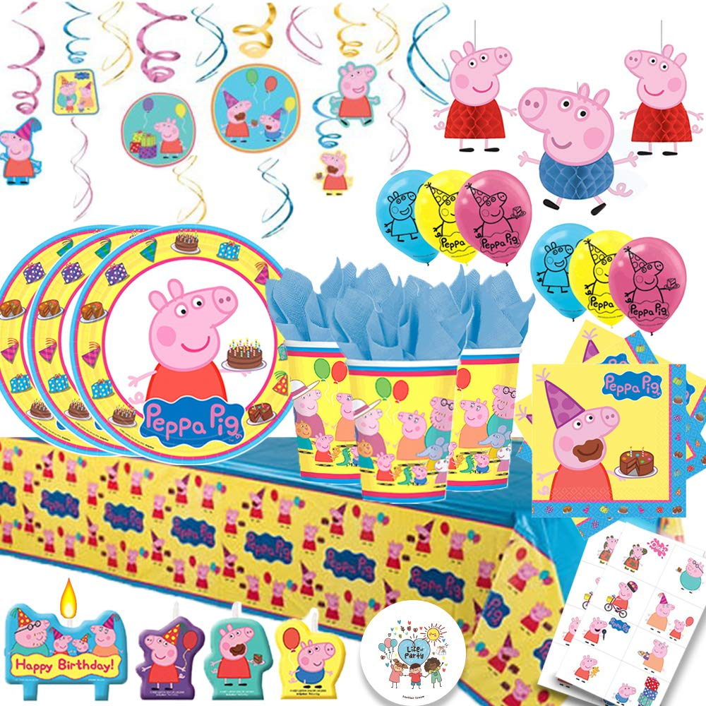 Peppa Pig Birthday Party Bundles for 16 Guests