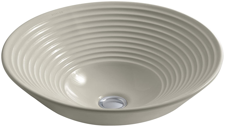 KOHLER K-2191-G9 Turnings Vessels Bathroom Sink, Sandbar