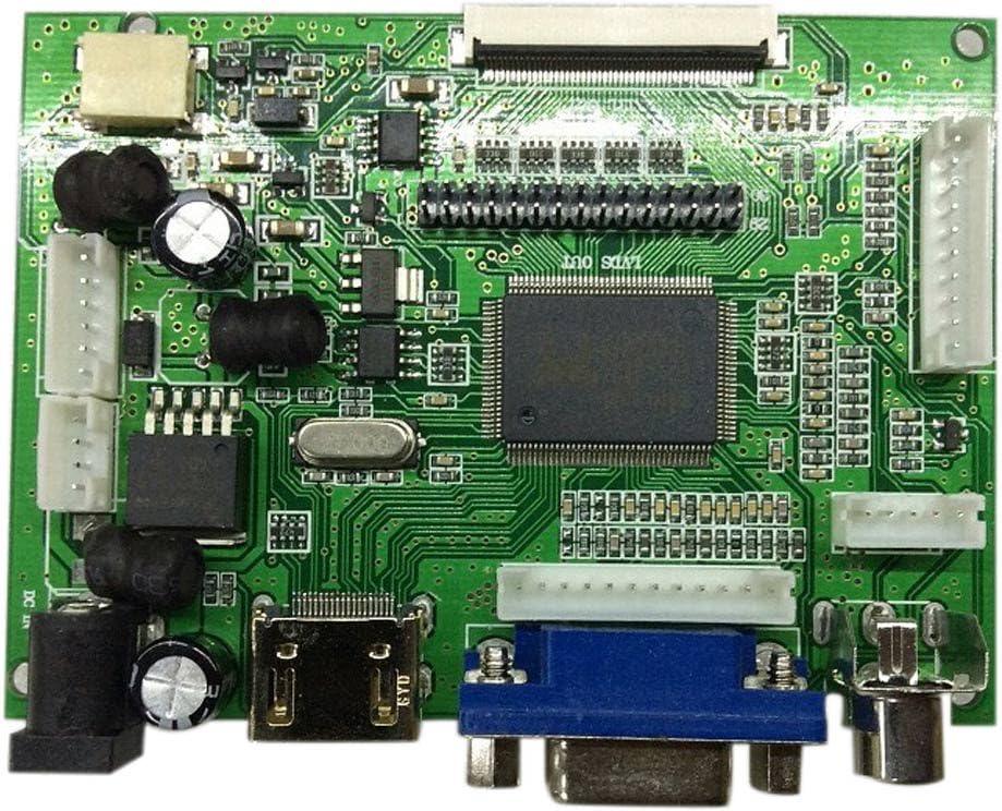 Rokoo Tarjeta controladora LCD HDMI VGA AV para pantalla de ...